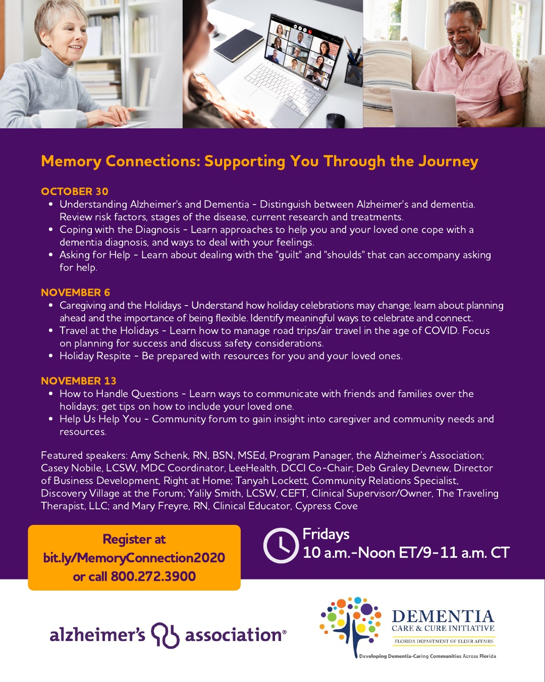 Memory Connections: Supporting You Through the Journey (webinar)
