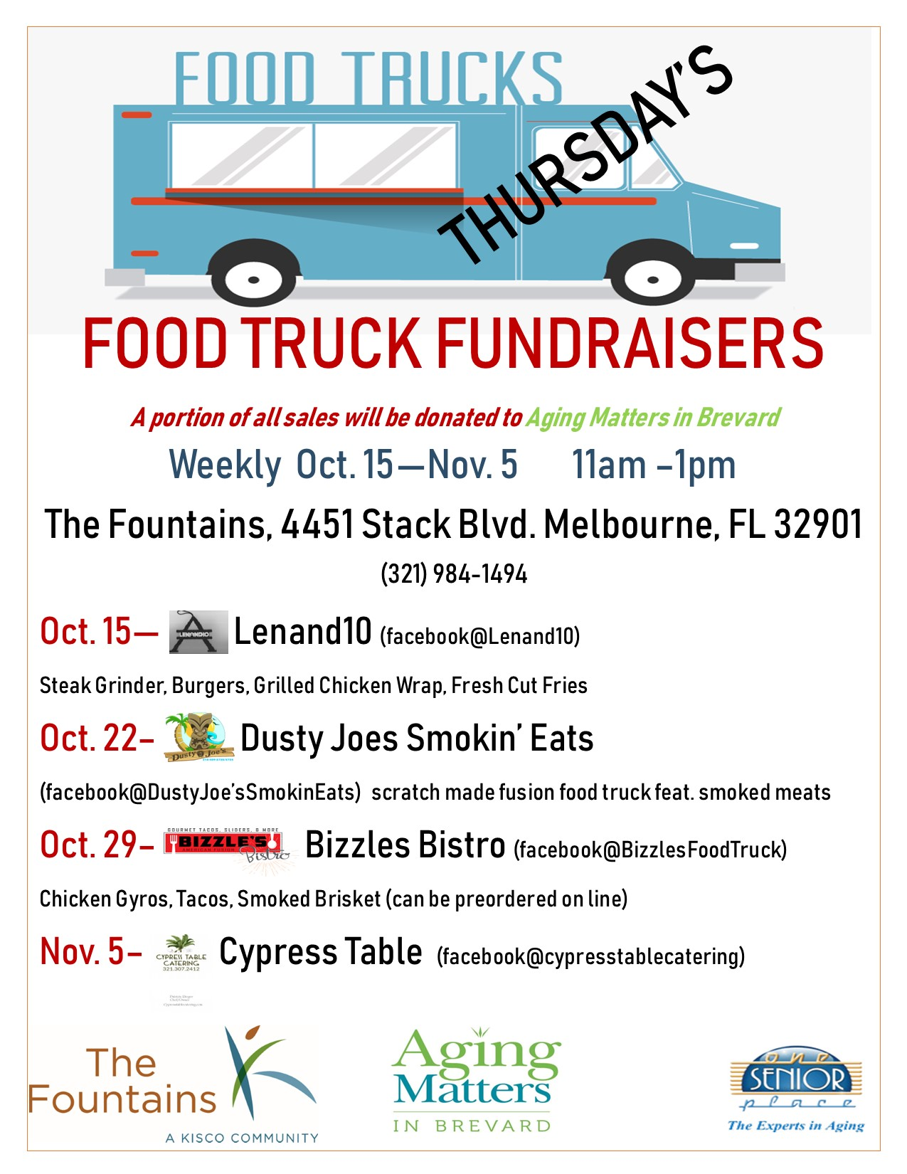 Food Truck Fundraisers at The Fountains