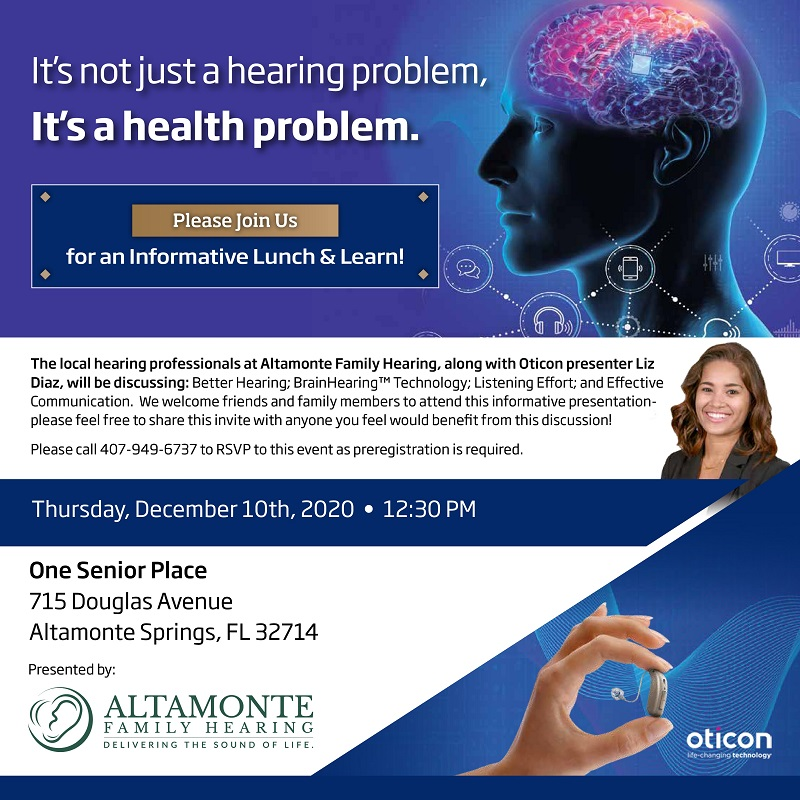IN-PERSON LUNCH & LEARN: It's not just a hearing problem, It's a health problem