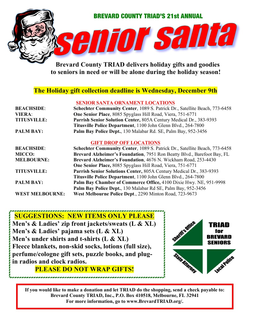 Brevard County TRIAD's 21st Annual Senior Santa