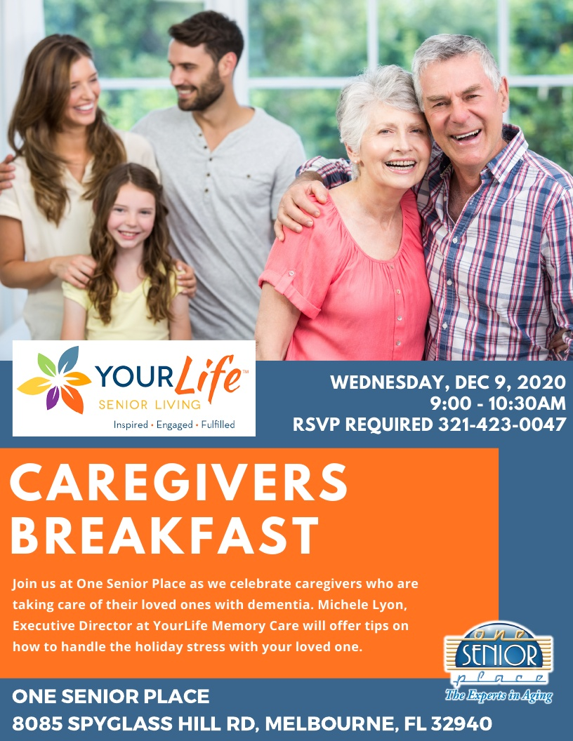 Caregivers Breakfast: Coping with Holiday Stress as a Caregiver hosted by YourLife Senior Living
