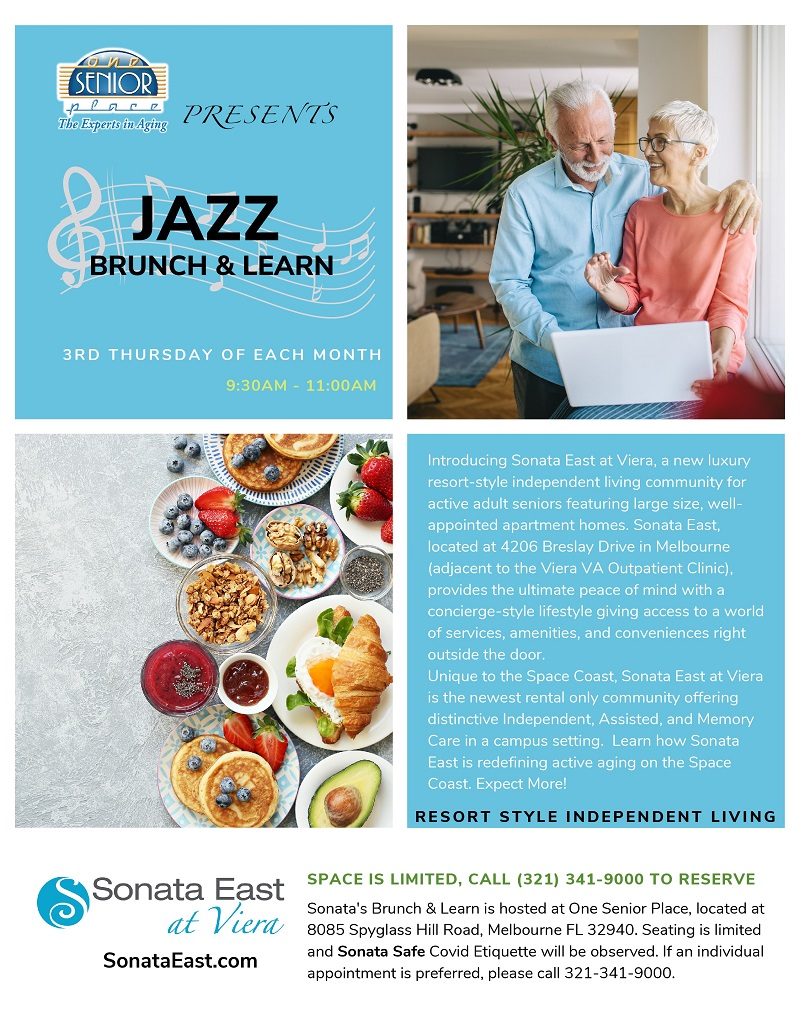 Sonata East at Viera JAZZ BRUNCH & LEARN hosted at One Senior Place