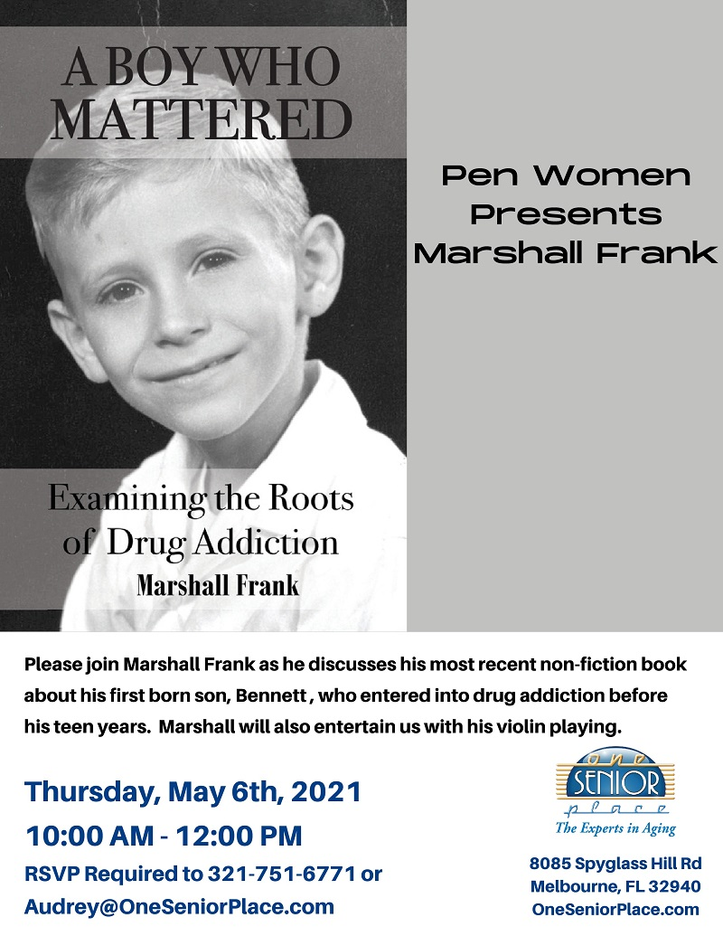 A Boy Who Mattered presented by Author Marshall Frank