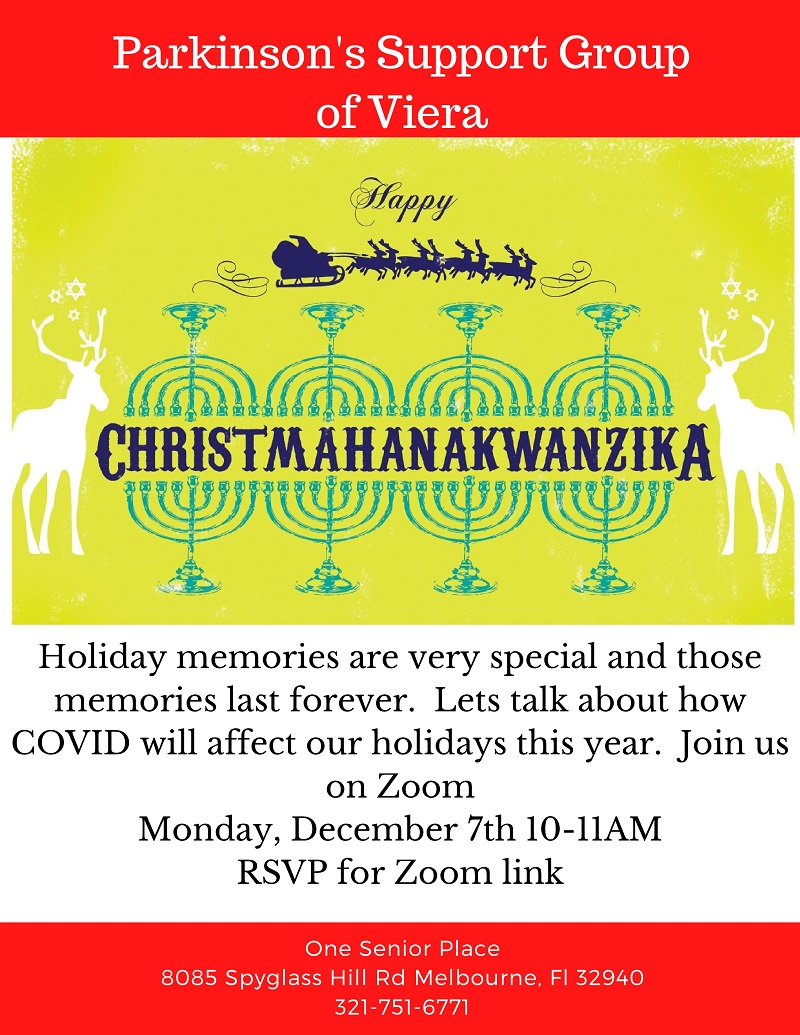 VIRTUAL: CHRISTMAHANAKWANZIKA Zoom Meeting, Parkinson's Support Group of Viera