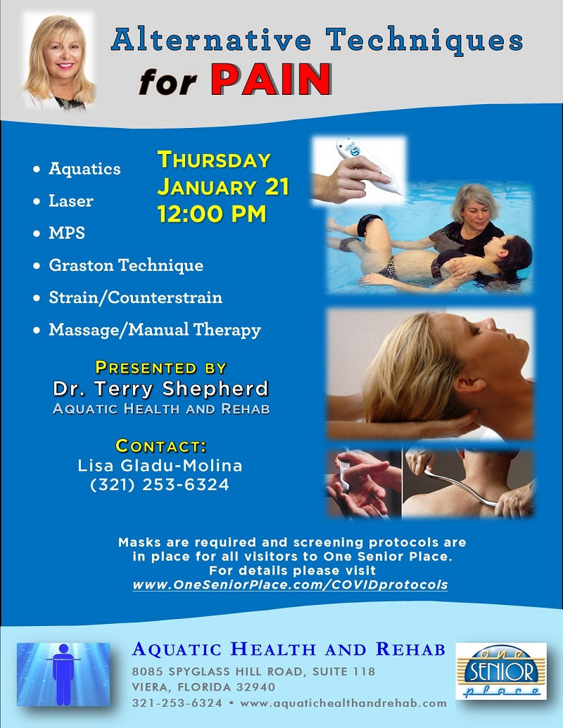 Alternative Techniques for Pain presented by Aquatic Health and Rehab