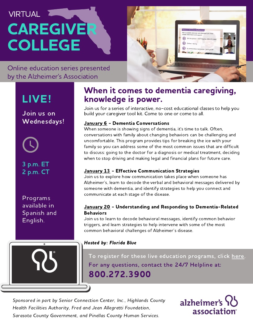 Virtual Caregiver College - Understanding and Responding to Dementia-Related Behaviors
