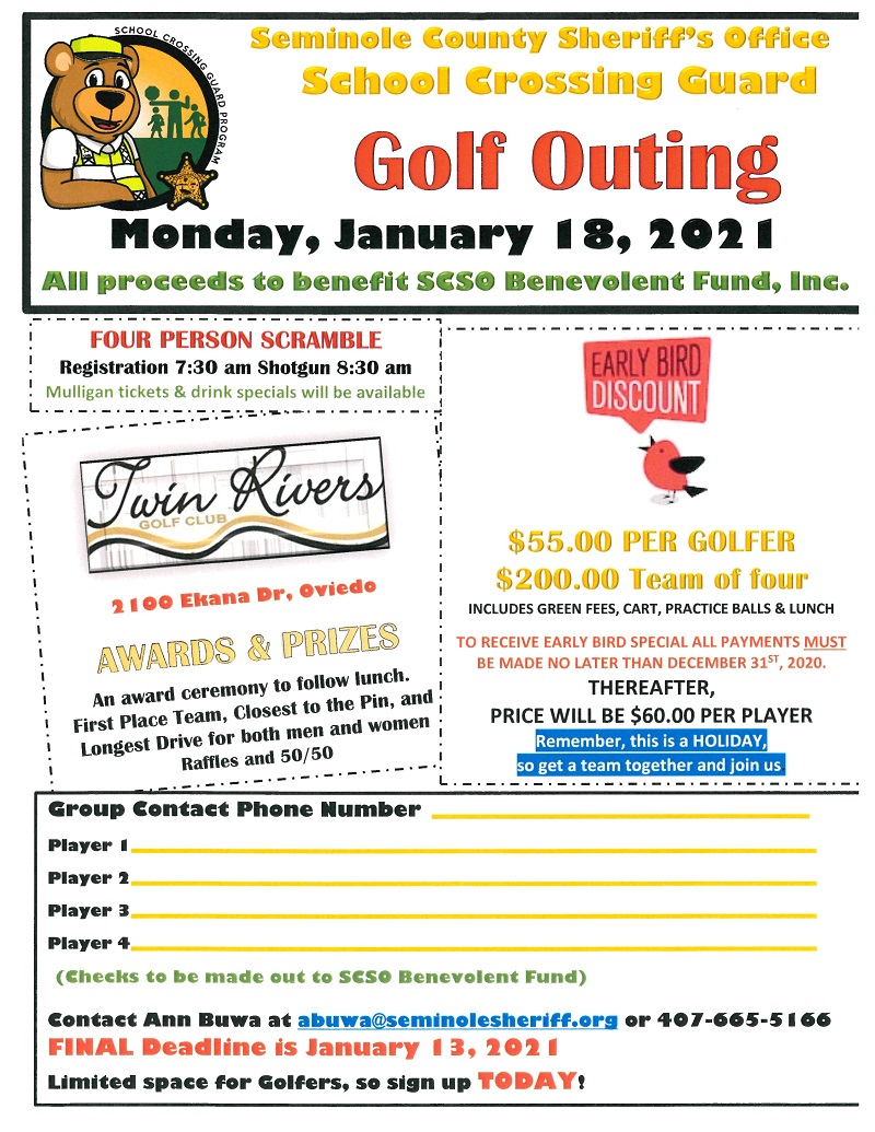 Seminole County Sheriff's Office Crossing Guard Golf Outing