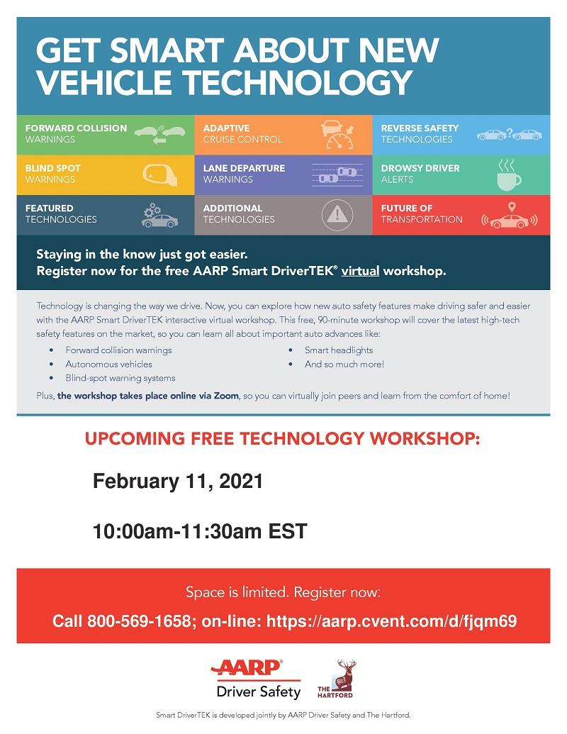 VIRTUAL: AARP Smart DriverTEK Workshop