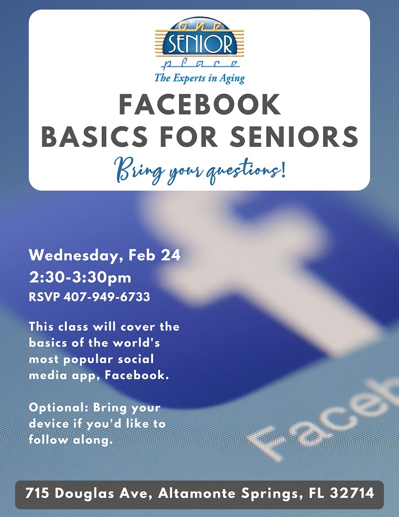 IN PERSON: Facebook Basics for Seniors