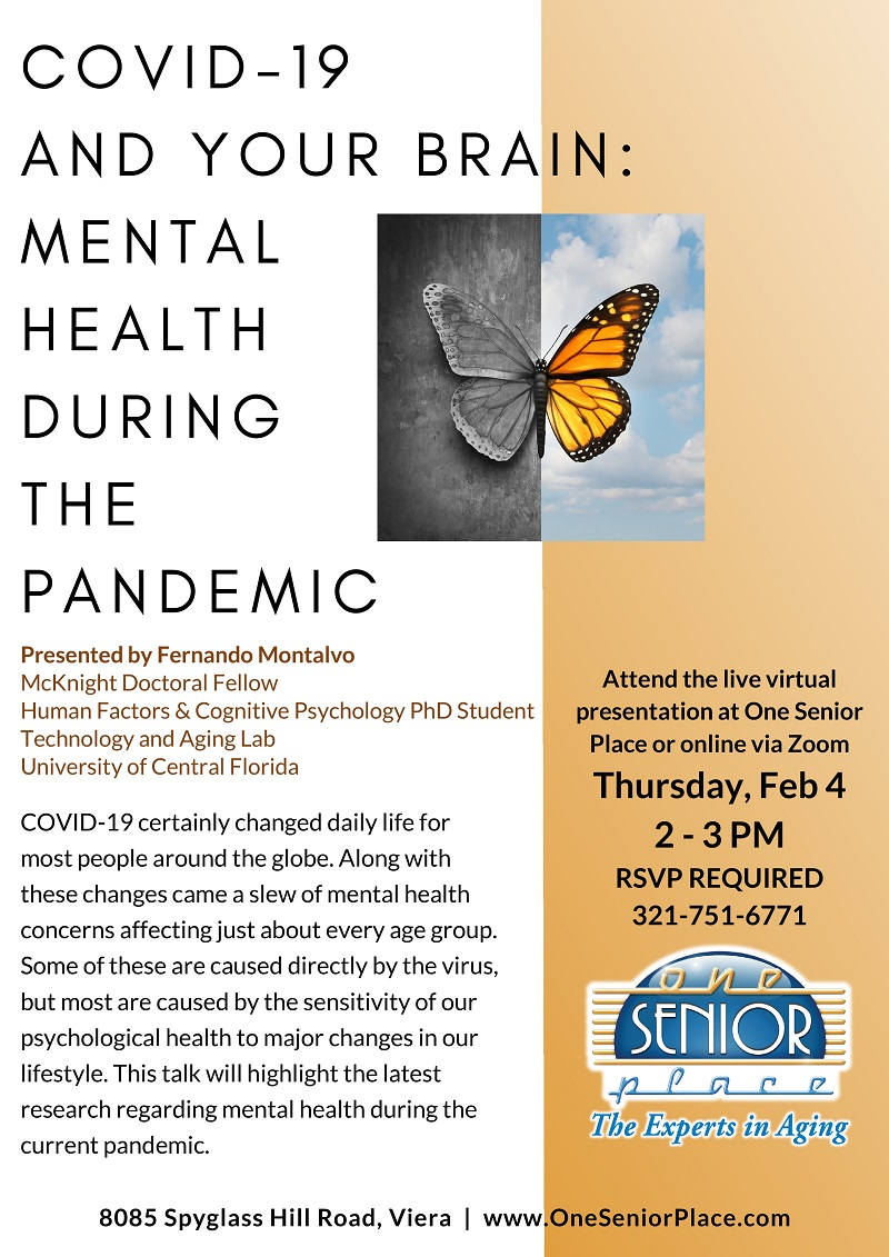 VIRTUAL & IN-PERSON: COVID-19 and Your Brain: Mental Health During the Pandemic