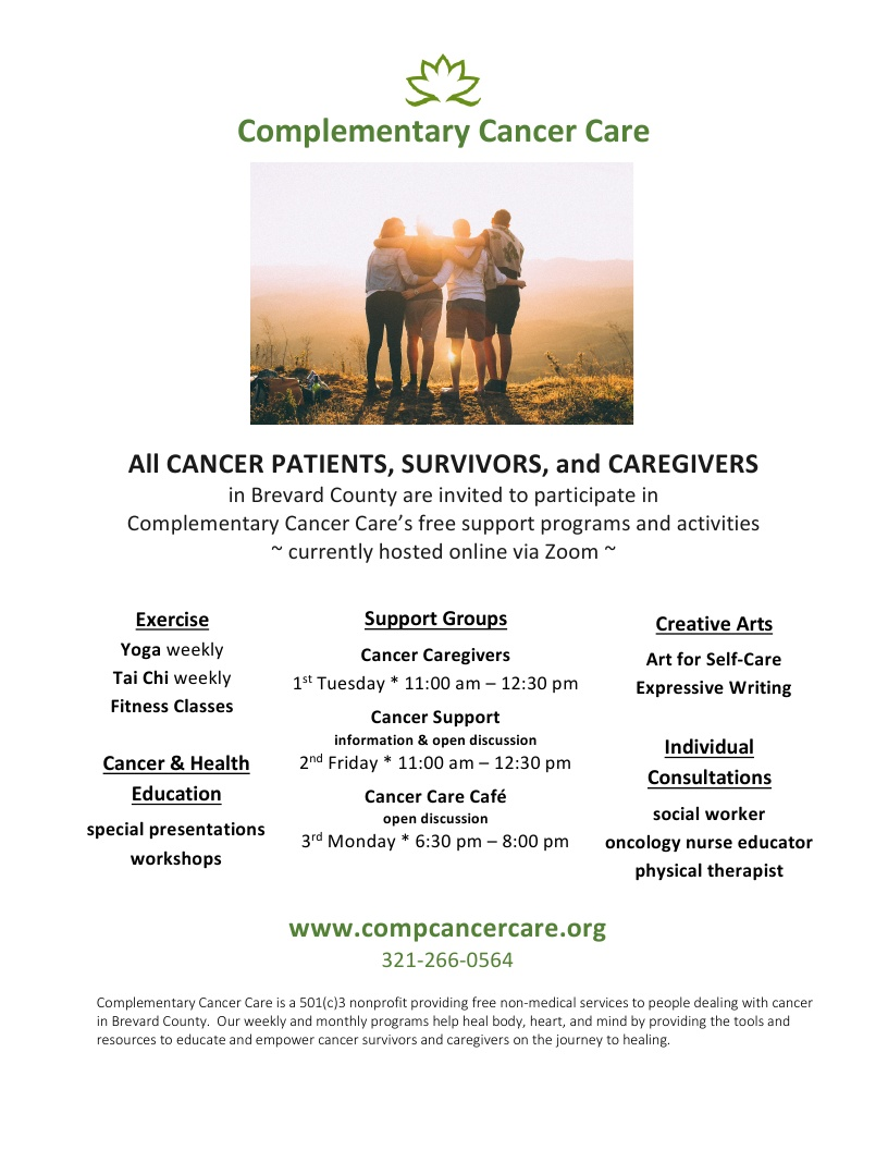 Support Programs and Activities offered by Complementary Cancer Care