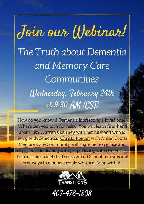 VIRTUAL: The Truth About Dementia and Memory Care Communities