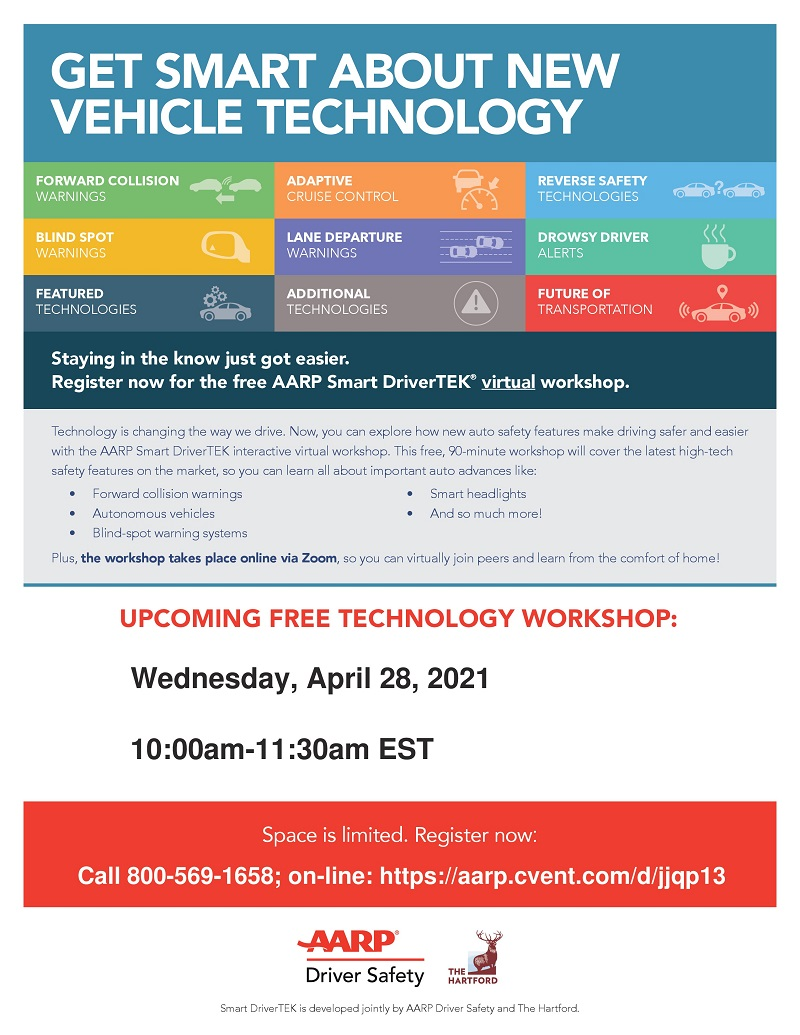 AARP Smart Driver TEK Interactive Virtual Workshop