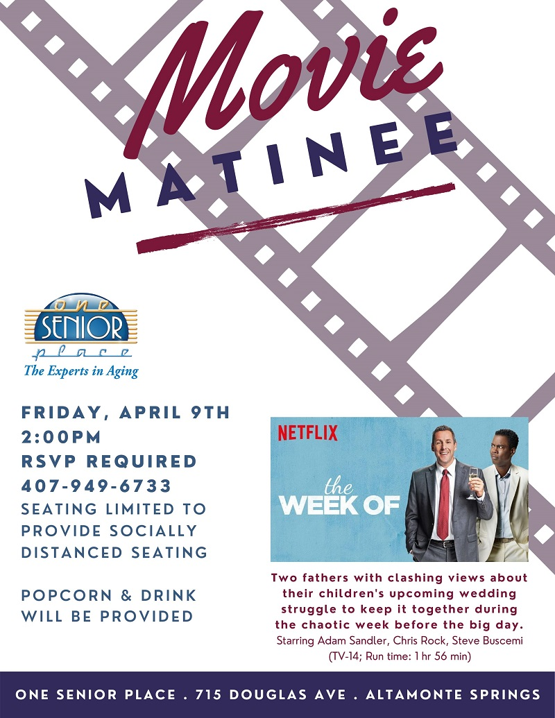 """IN PERSON: Movie Matinee: """"The Week Of"""""""