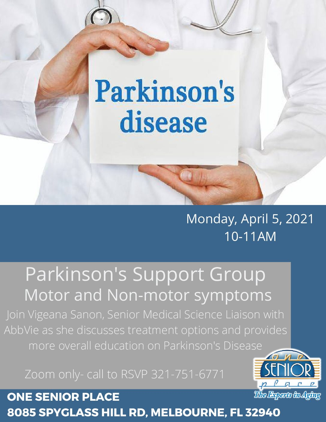 Parkinson's Support Group - Motor and Non-motor symptoms (ZOOM Only)