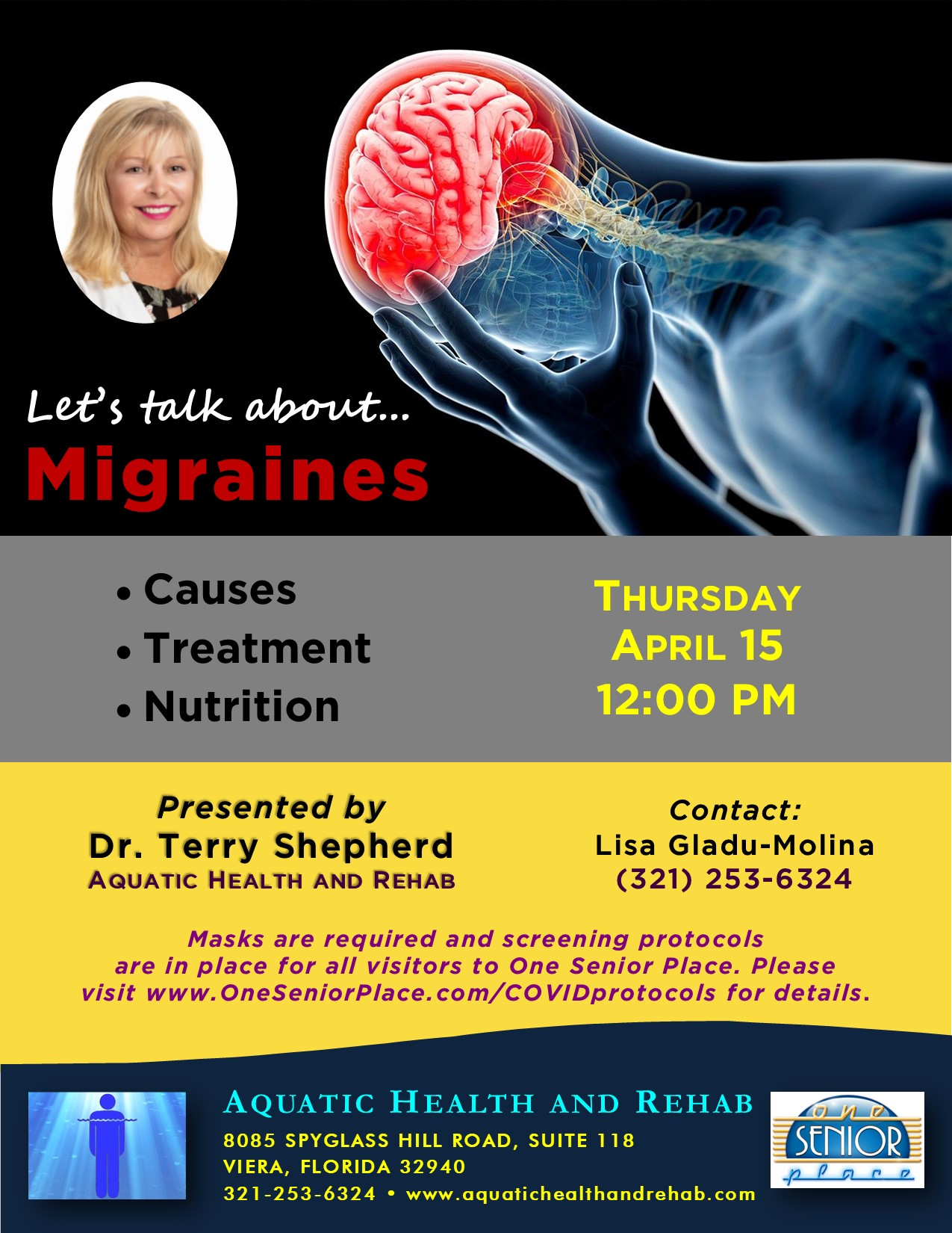 Let's talk about...Migraines presented by Aquatic Health and Rehab