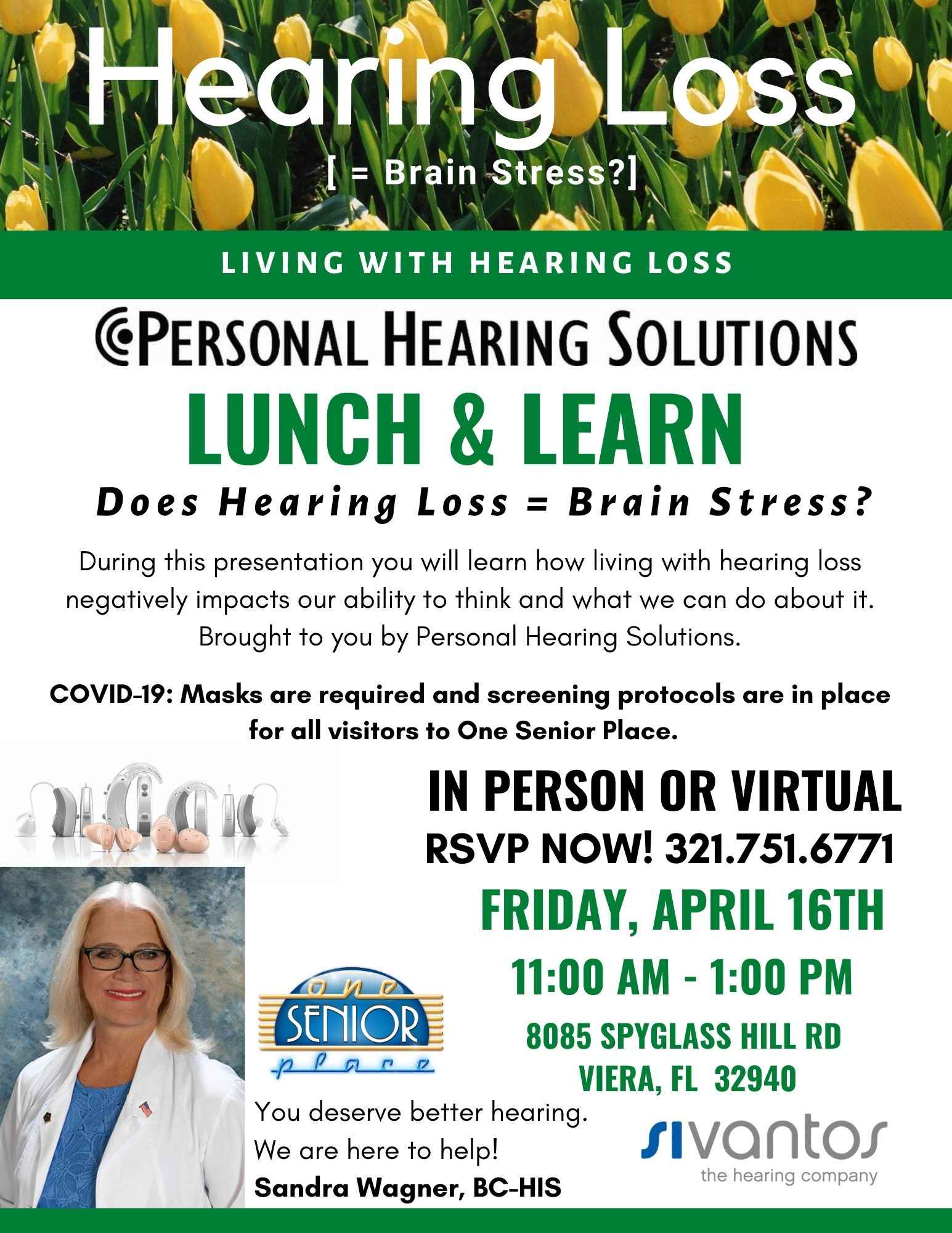 Does Hearing Loss = Brain Stress? Lunch and Learn Seminar presented by Personal Hearing Solutions