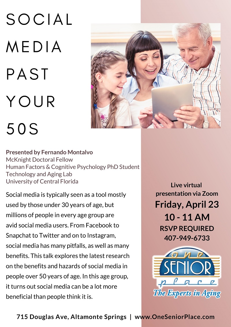 VIRTUAL: Social Media Past Your 50s
