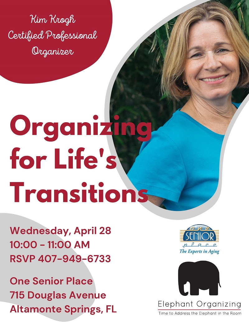 IN-PERSON: Organizing for Life's Transitions