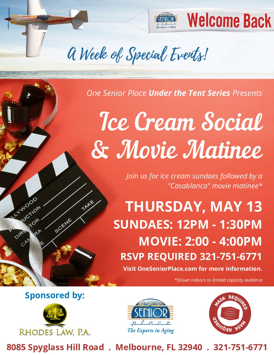 Ice Cream Social hosted by Rhodes Law. P.A., Under The Tent Series
