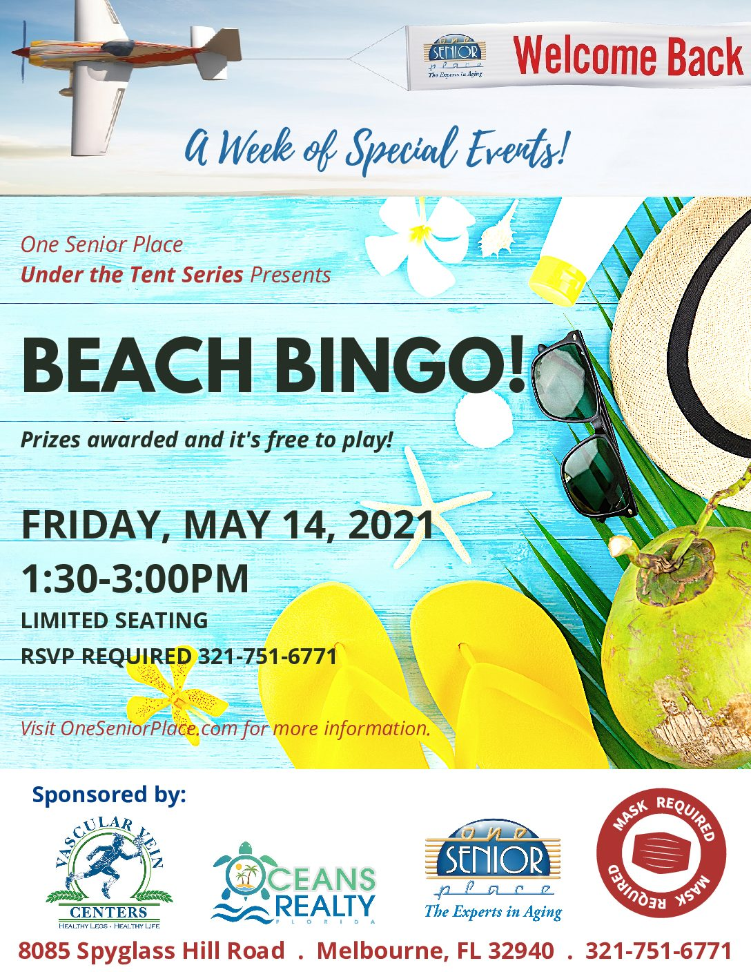 Beach BINGO hosted by Vascular Vein Centers and co-sponsored by Oceans Realty, Under The Tent Series