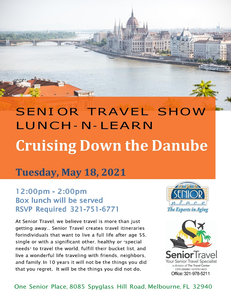 Cruising Down the Danube, Senior Travel Show Lunch and Learn