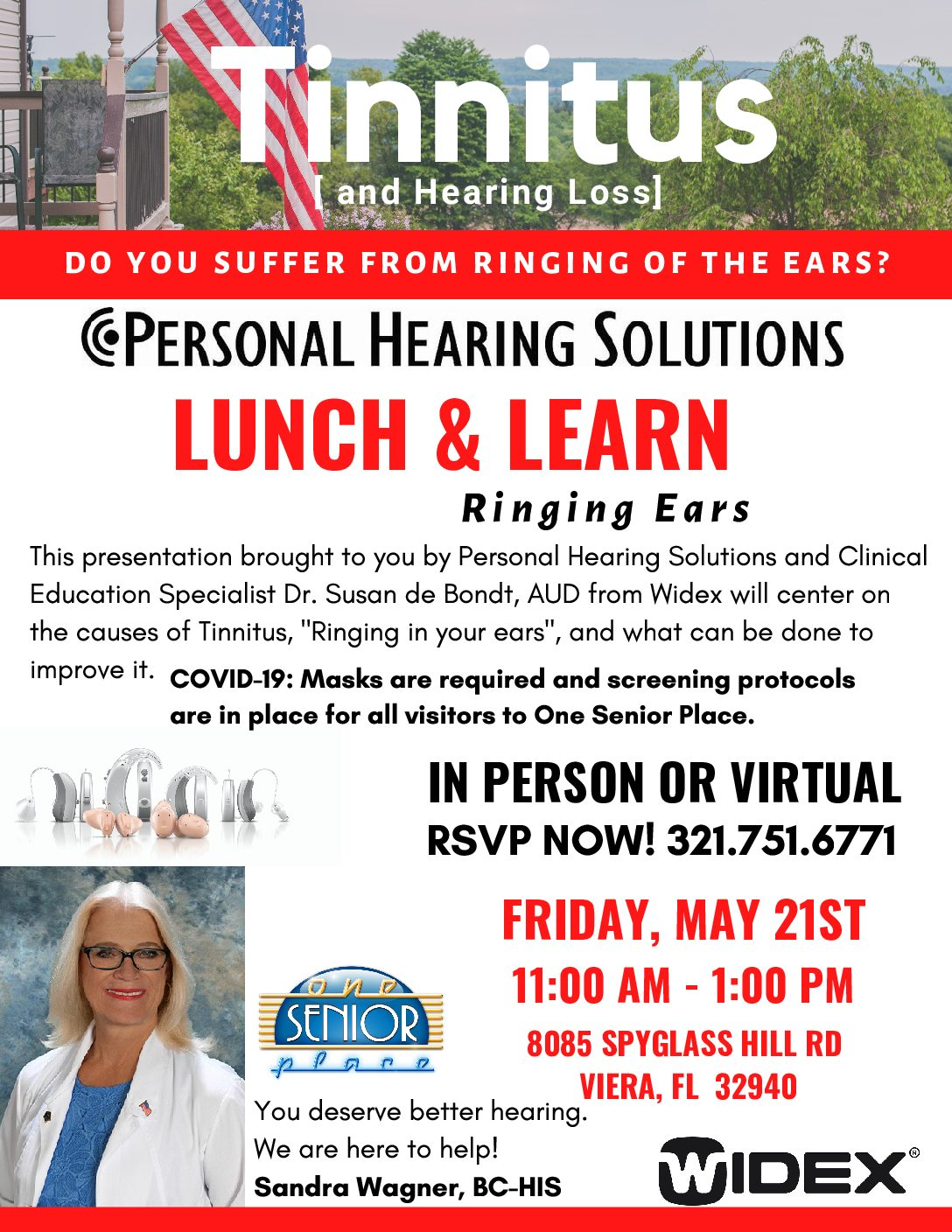 Tinnitus [and hearing loss] Lunch and Learn Seminar presented by Personal Hearing Solutions