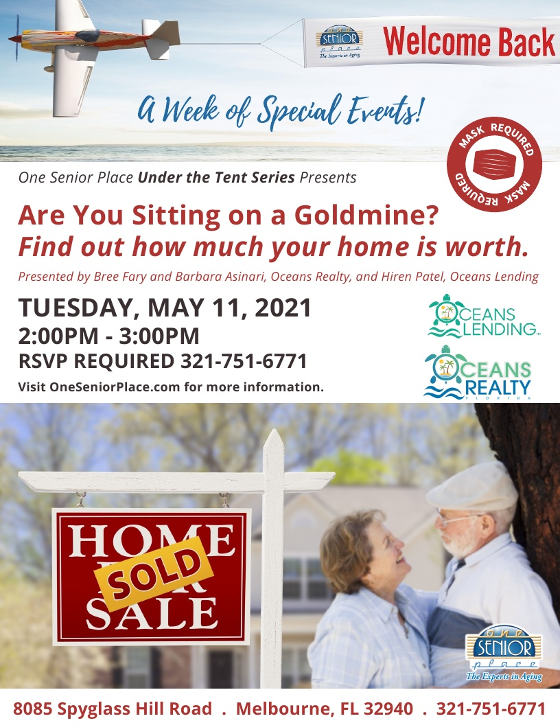 'Are you sitting on a goldmine?  Find out how much your home is worth' presented by Oceans Realty and Oceans Lending
