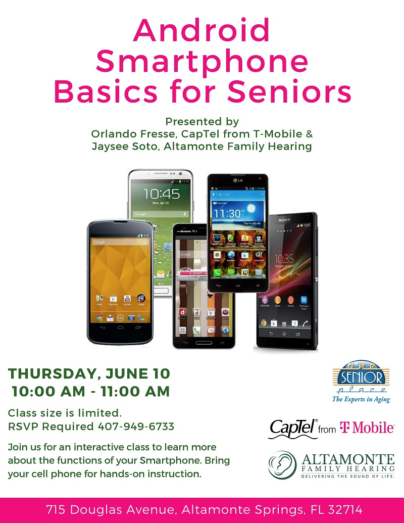 IN-PERSON: Android Smartphone Basics for Seniors