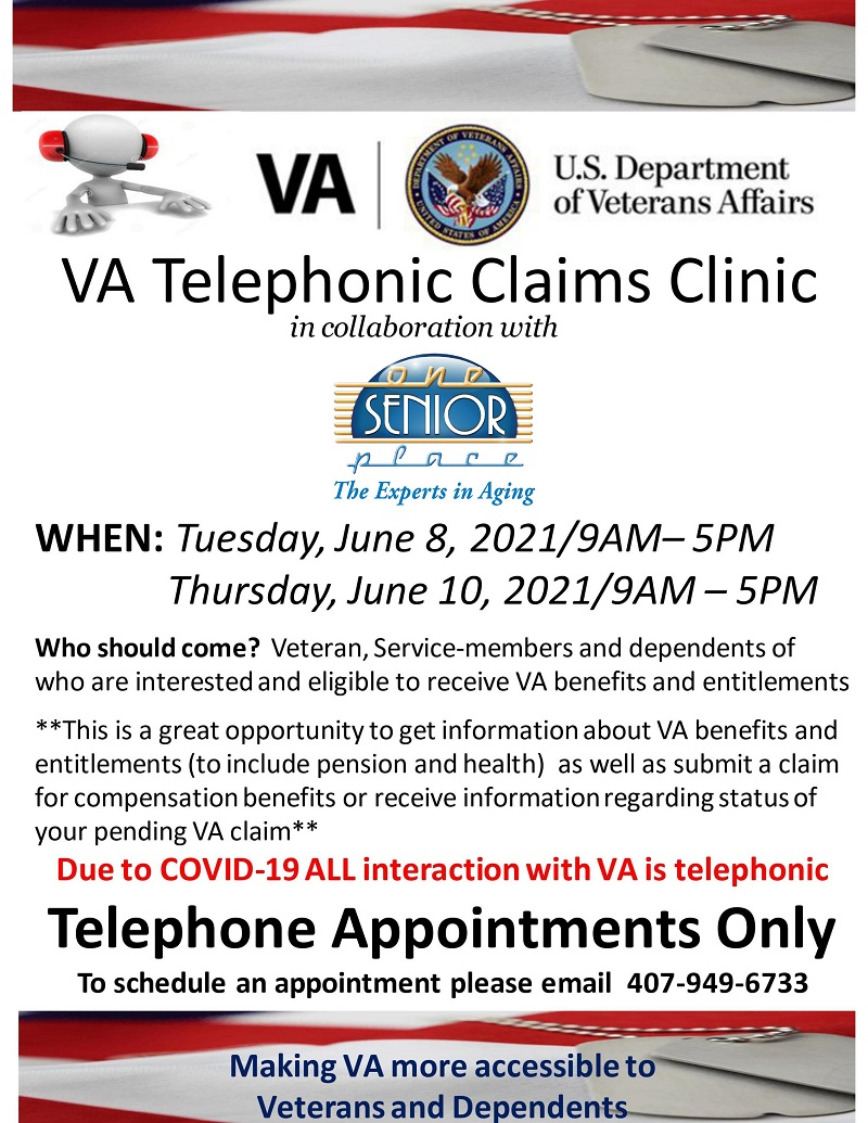 PHONE: VA Telephonic Claims Clinic
