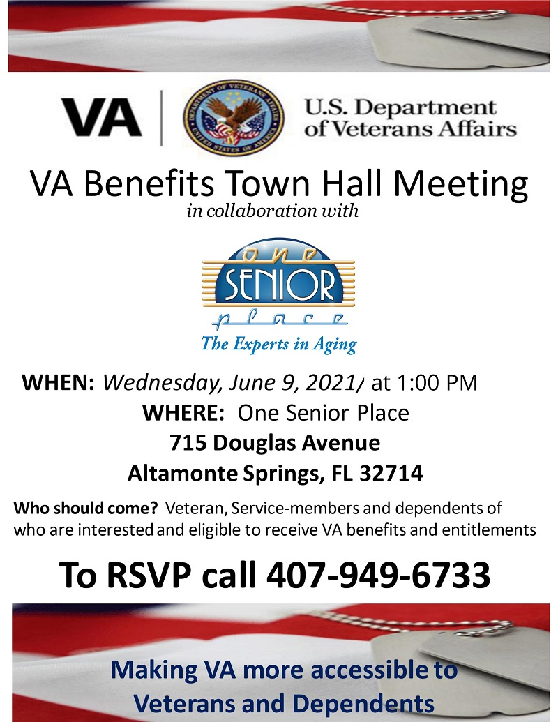 IN-PERSON: VA Town Hall Meeting