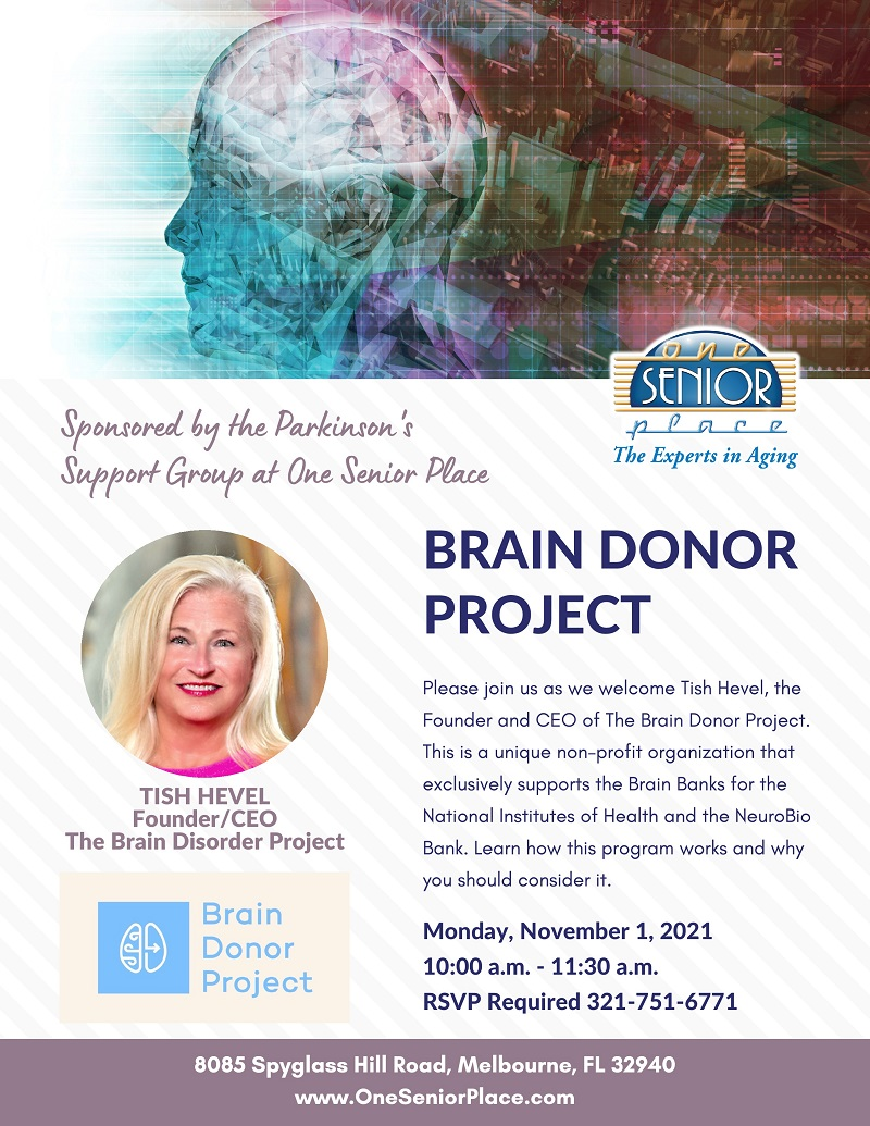 Brain Donor Project, Parkinson's Support Group