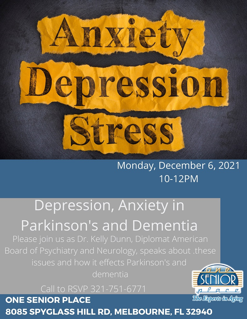 Anxiety Depression Stress, Parkinson's Support Group