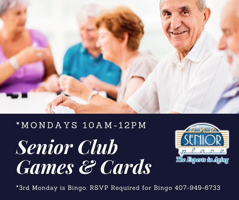 Senior Club Games & Cards