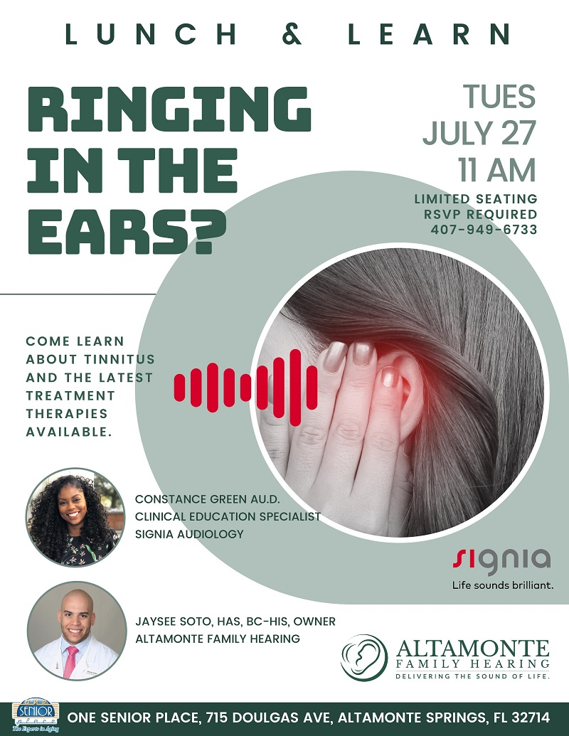 IN-PERSON: Tinnitus Lunch & Learn