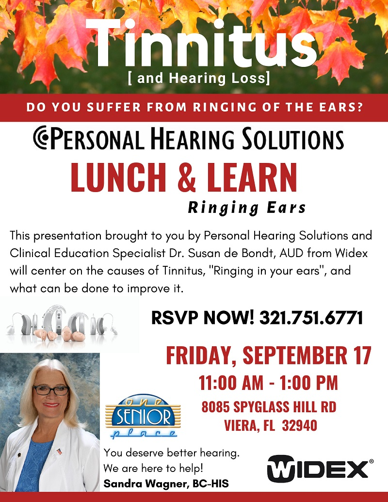 Tinnitus [and Hearing Loss] presented by Personal Hearing Solutions
