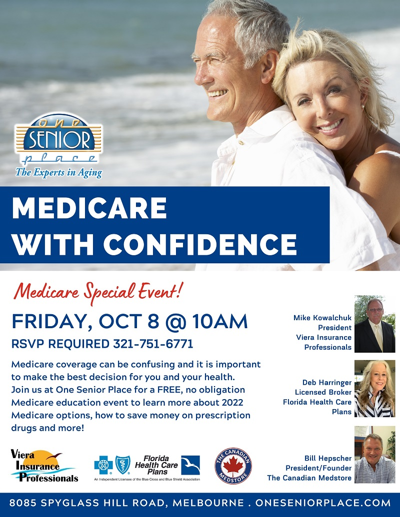Medicare with Confidence, Medicare Special Event!