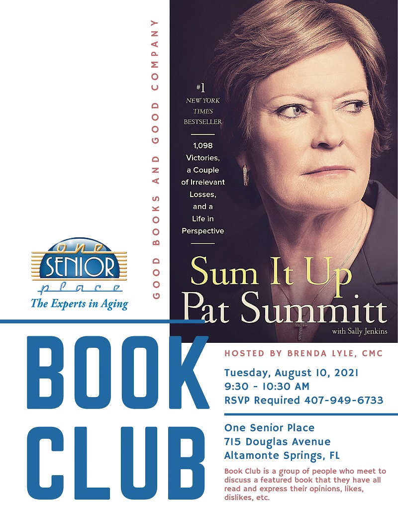 """IN-PERSON: Book Club with Brenda, """"Sum It Up"""" By Pat Summitt and Sally Jenkins"""
