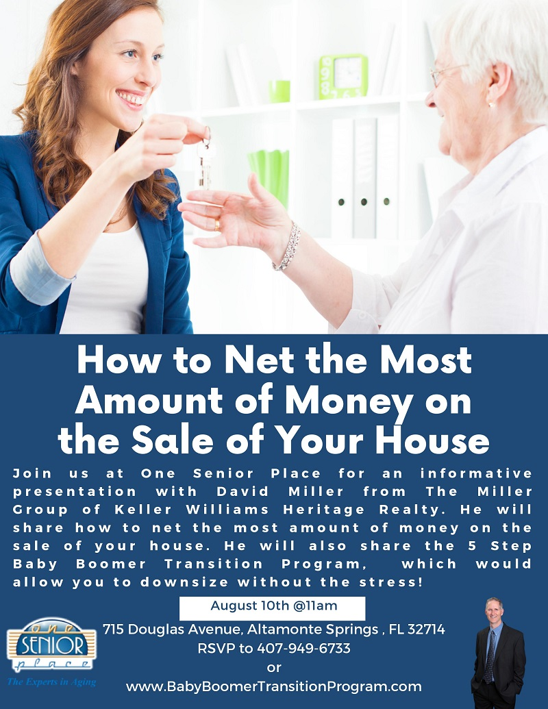 IN-PERSON: How to Net the Most Amount of Money on the Sale of Your House