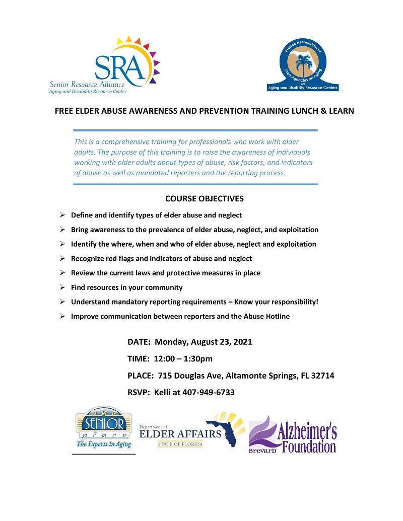 Elder Abuse Awareness & Prevention Lunch & Learn