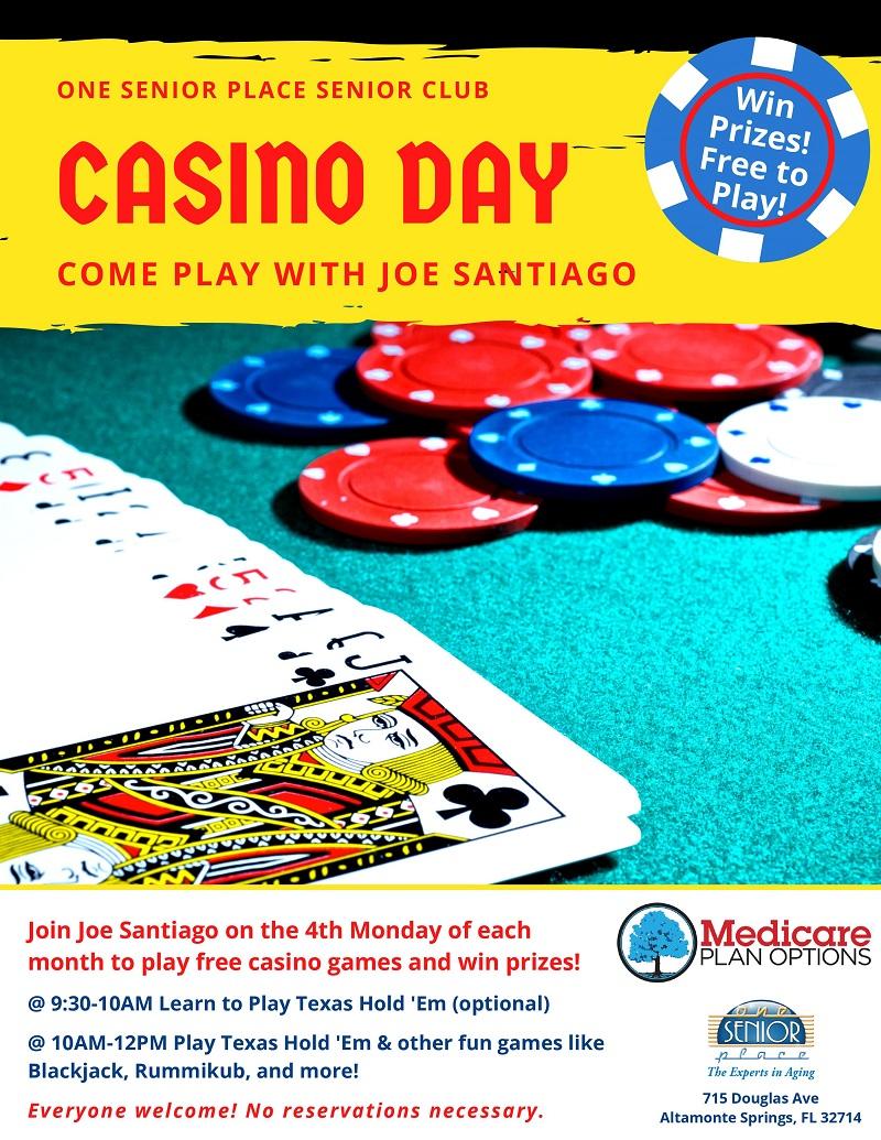 Senior Club Texas Hold 'Em and More with Joe Santiago