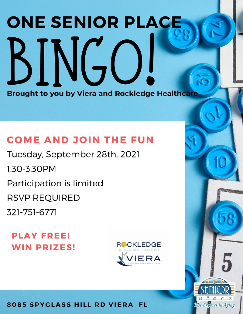 BINGO! brought to you by Rockledge Health and Rehabilitation & Viera Health and Rehabilitation
