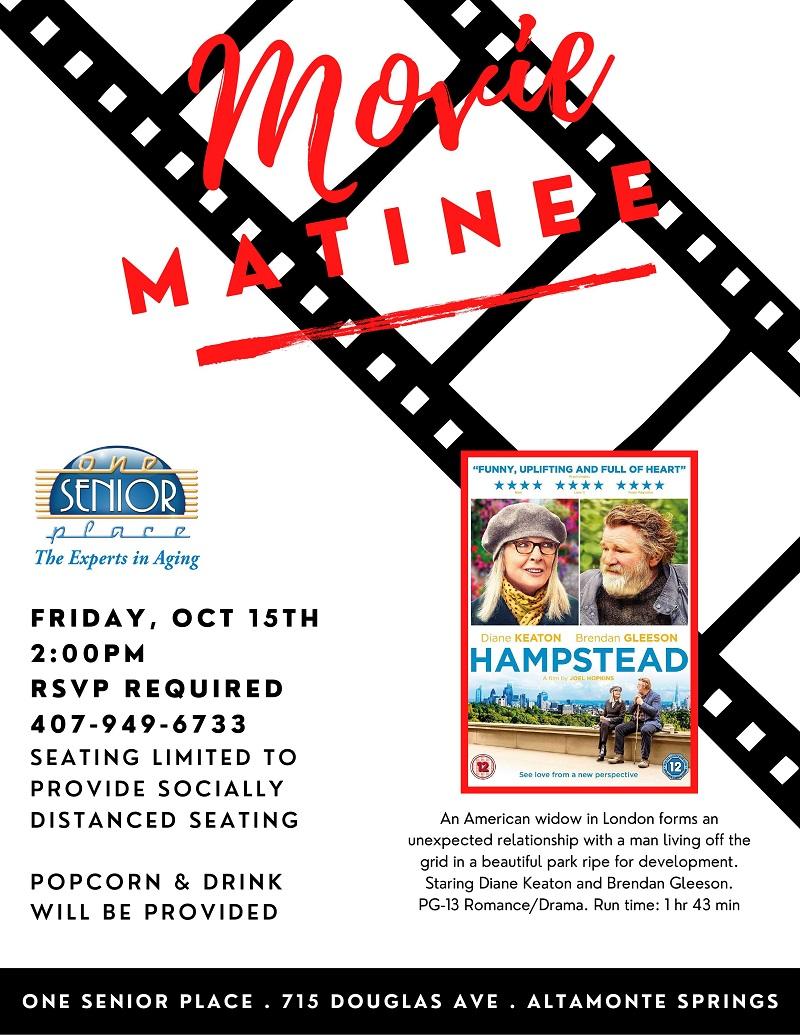 """Movie Matinee """"Hampstead"""""""
