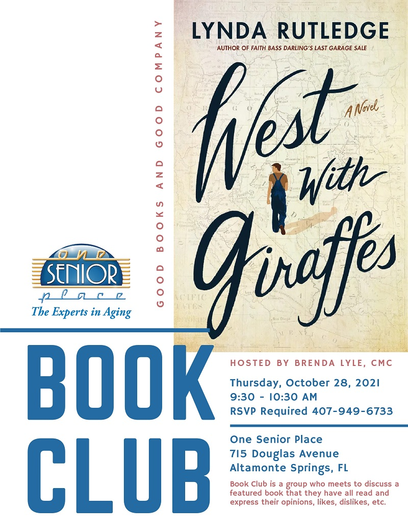 """IN PERSON:  Book Club """"West with Giraffes"""""""