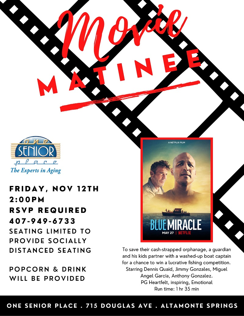 """IN-PERSON: Movie Matinee """"Blue Miracle"""""""