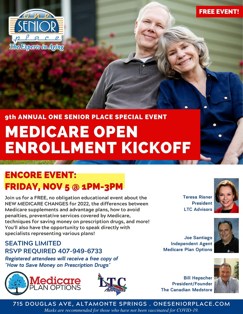 ENCORE EVENT: 9th Annual Medicare Open Enrollment Kickoff