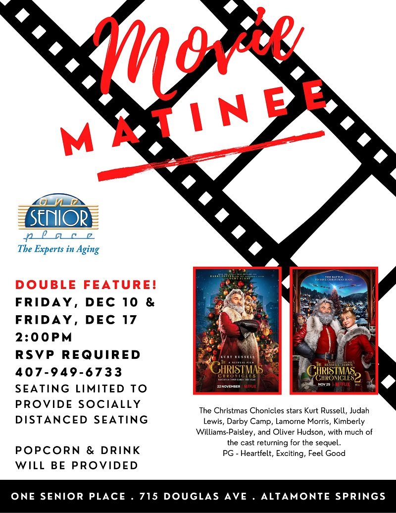 """IN-PERSON: Movie Matinee """"The Christmas Chronicles Part 1"""""""