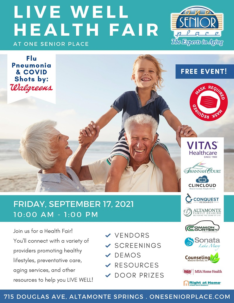 SPECIAL EVENT: Live Well Health Fair!