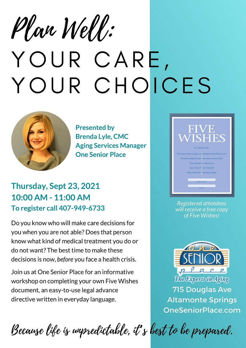 IN-PERSON: Plan Well: Your Care, Your Choices