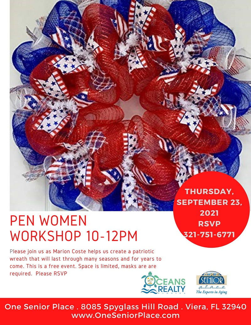 Wreath Making Workshop, One Senior Place and Cape Canaveral Women's Pen Group